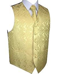 Men's Tuxedo Vest, Tie & Pocket Square Set