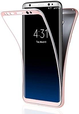 Funda Samsung Galaxy S8, ivencase Carcasa [SIN Protector de Pantalla] Suave TPU Silicona Gel Flexible Protector Tapa Anti-rasguños Case Cover para ...
