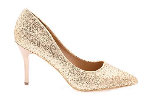 Mariage Shoes Brillant Sexy Haut vernis Anguille Tendance En Champagne pour Paillettes Soirée chic Fin 9cm escarpins Femmes Talon chaussures Fashion IadqwxPXx