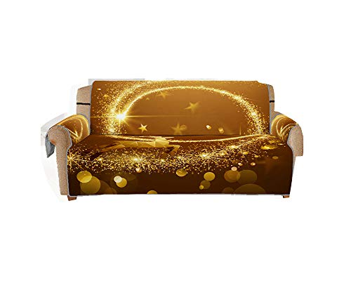 LONTA Christmas Sofa Slipcover - Sofa Cushion Cover - Christmas Starlight for Home Decoration