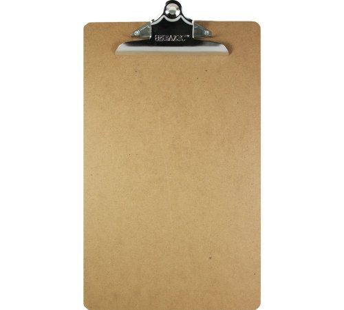 BAZIC Hardboard Clipboard Sturdy Spring