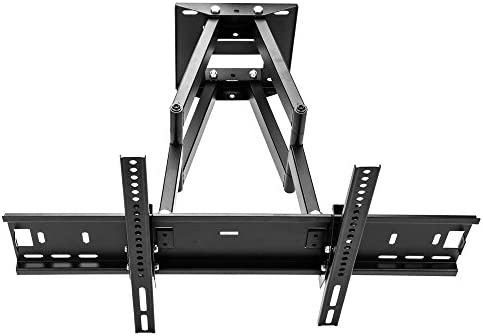 Sunydeal soporte de pared para televisor inclinación giratorio articulado doble brazo soporte de pared para Samsung 32 40 42 46 48 50 55 60 pulgadas LED Smart TV, como PN F5300 F8500,