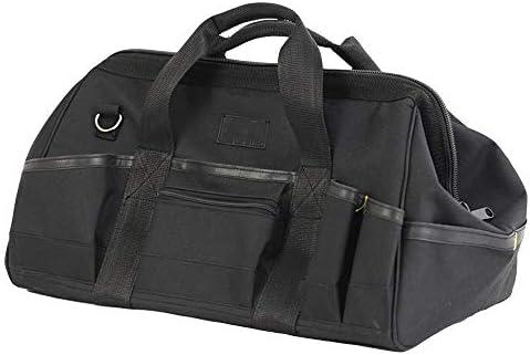 耐久性工具バッグ パワーツールハンドバッグ防水工具収納袋多機能テクニシャンバッグショルダーストラップが付属します 工具収納&仕分け管理&運搬用 (色 : Black, Size : One size)