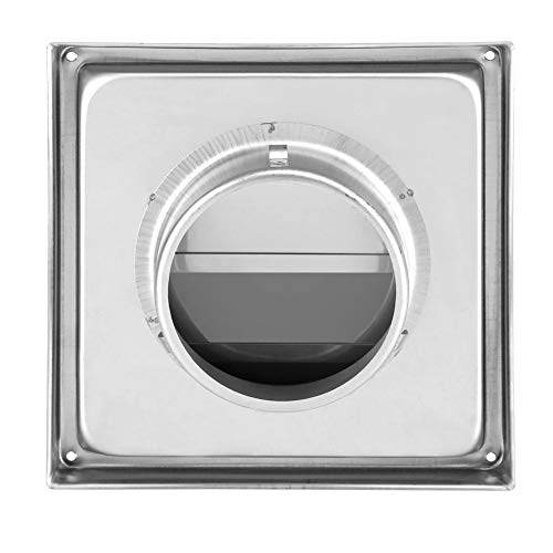 Wall Vent - 100mm Stainless Steel Wall Air Vent Square Tumble Dryer Extractor Fan Outlet
