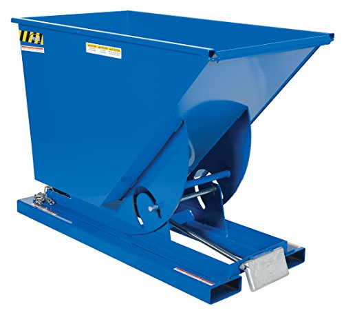 Vestil D-75-MD Medium Duty Self-Dumping Hopper with Bumper Release, 4000 lbs Capacity, Overall L x W x H (in.) 61-1/8