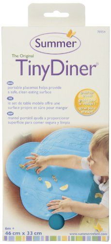 Summer Infant Tiny Diner Portable Placemat, Blue by Summer Infant (Image #1)