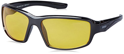 MTV Roadies Unisex Sporty Wrap-Around Protective Light Weight with 100% UV Blocking Shatterproof Polycarbonate Lens Sunglasses RD-123 (Ambermatic Yellow, Ambermatic - Ambermatic Yellow