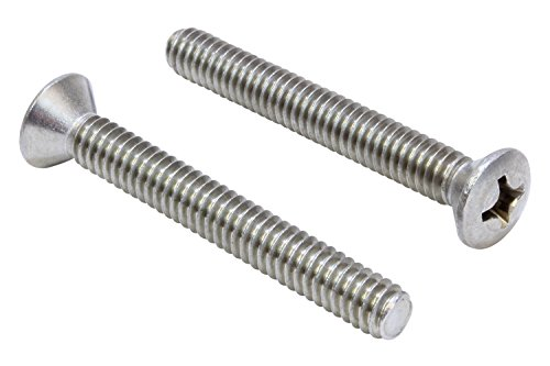 Bolt Oval (1/4''-20 X 2'' Stainless Phillips Oval Head Machine Screw, (25 pc), 18-8 (304) Stainless Steel, by Bolt Dropper)