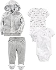 Simple Joys by Carter's Baby-Boys 4-Piece Neutral Jacket, Bodysuit, and Pant Set Layette