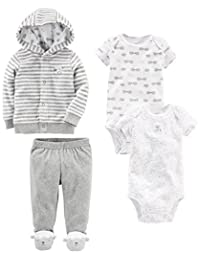 Simple Joys by Carter's Baby 4-Piece Terry Cardigan Set