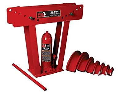 Torin Big Red Hydraulic Pipe/Tube Bender with 6 Cast Dies, 12 Ton Capacity