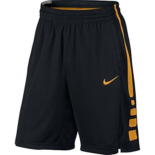 NIKE Men's Elite Basketball Short Black/Circuit Orange Size X-Large