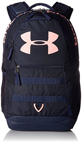 Under Armour Big Logo 5.0 Backpack,Midnight Navy (410)/Cape Coral, One Size ()