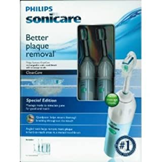 Two Pack - Philips Sonicare CleanCare Rechargable Sonic Toothbrushes with Massage Mode (Special Edition) (B005NWSUJS) | Amazon price tracker / tracking, Amazon price history charts, Amazon price watches, Amazon price drop alerts