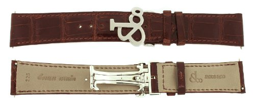 Jacob & Co. Genuine Real Alligator Brown Short Band Strap 22SMM 47MM Watch by Jacob & Co.