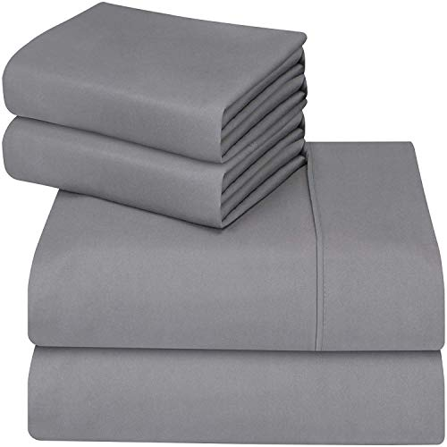 Utopia Bedding 4-Piece Queen Bed Sheet Set (Grey)