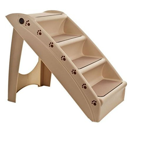 Foldable Pet Stairs Dog Cat up to 100 Pounds 4 Steps 19 Inch High 15 Inch Wide by Unknown