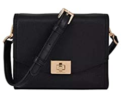 """MK Womens Small Crossbody Pebble Leather Approximate measurement: 7""""L x 5.5""""H x 2"""" D"""
