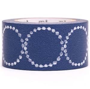 Cinta adhesiva decorativa Washi de mt círculo azul pandereta