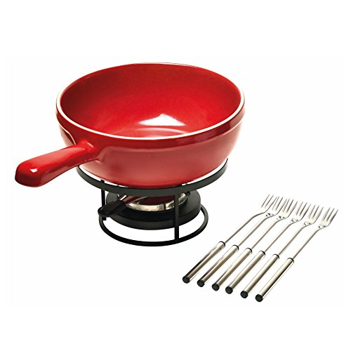 Emile Henry Made In France Flame Cheese Fondue Set, 2.6 q...