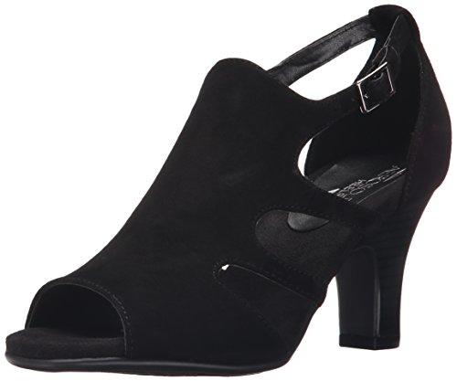 Aerosoles Suede Sandals (Aerosoles Women's Ginastics Dress Sandal, Black Suede, 6 M US)