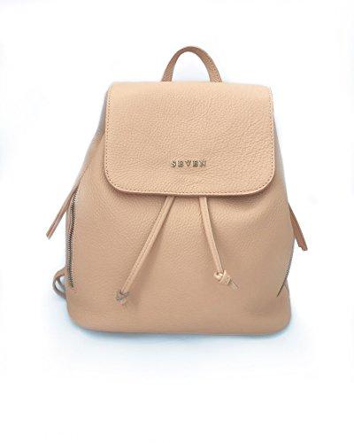 SIENNAH Rucksack Handtasche, 100% Leder, Designerrucksack, Rosa