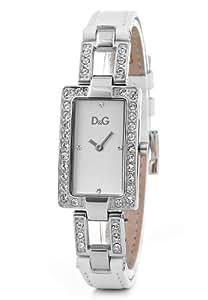 Dolce & Gabbana DW0558 - Reloj analógico de cuarzo para mujer con correa de piel, color blanco