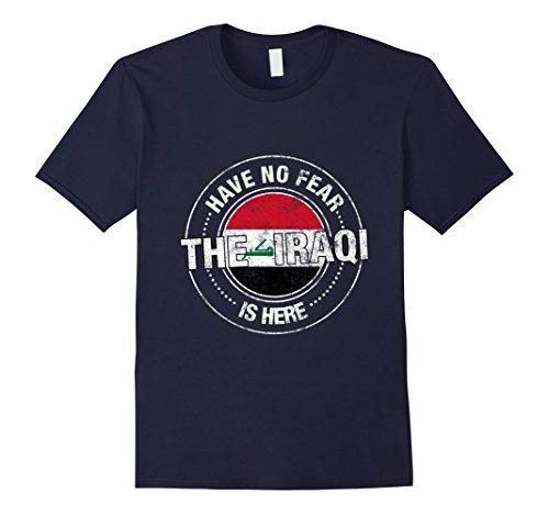 Mens Have No Fear The Iraqi Is Here Shirt - Iraq Flag Shirt Medium Navy