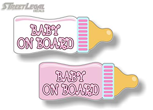 - 2 Baby On Board Baby Bottle (Pink Theme) 9