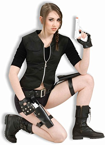 Treasure Huntress Adult Costume - (Lara Croft Tomb Raider Costume Belt)