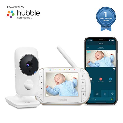Motorola Smart Video Baby Monitor with Wi-Fi and 3.5' Color LCD Parent Unit, Night Vision, Two-Way Audio, Room Temperature Display and 5 Lullabies, MBP668CONNECT
