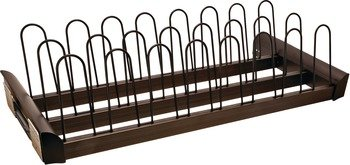 30'' Shoe Rack Pull Out for Closet by Hafele, Engage Collection, Oil-rubbed bronze
