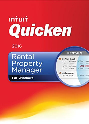 Quicken Rental Property Manager 2016 Personal Finance & Budgeting Software [Old Version]