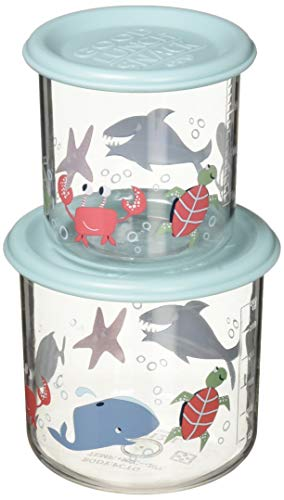 SugarBooger Good Lunch Containers, Large, Ocean