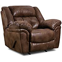 Simmons Upholstery Wisconsin Beautyrest Rocker Recliner, Wisconsin Chocolate