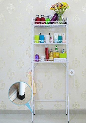 Hooker Bathroom Furniture (SY 3-Tier Toilet Rack Storage Shelf Bathroom Organizer and Decor Bathroom Spacesaver (White)))
