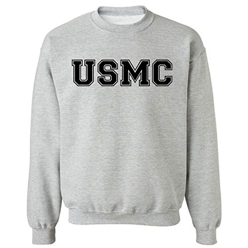 USMC Athletic Marines Military Style Crewneck Sweatshirt in Gray - X-Large
