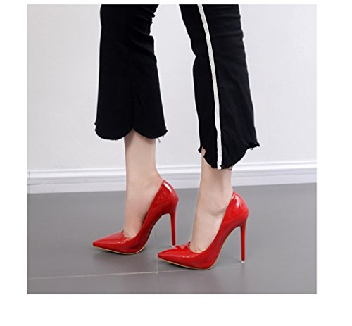 Shoes Boca Pointed OL Rouge Heel Xianshu Toe Shawow High FqRYPR