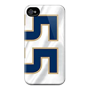 KaraPerron Iphone 4/4s Shock Absorbent Hard Cell-phone Cases Unique Design Colorful St. Louis Rams Skin [biC705xbUv]