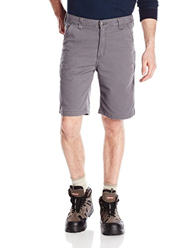 Carhartt Men's Rugged Flex Rigby Short, Gravel, (Cotton Canvas Work Shorts)