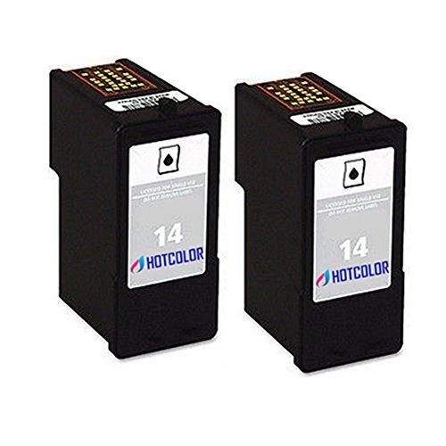 HOTCOLOR 2 Black for Lexmark 14 Lexmark No.14 Lexmark-14 18C2090 Ink Cartridge For X2650 X2630 Z2300 Z2320 Printer