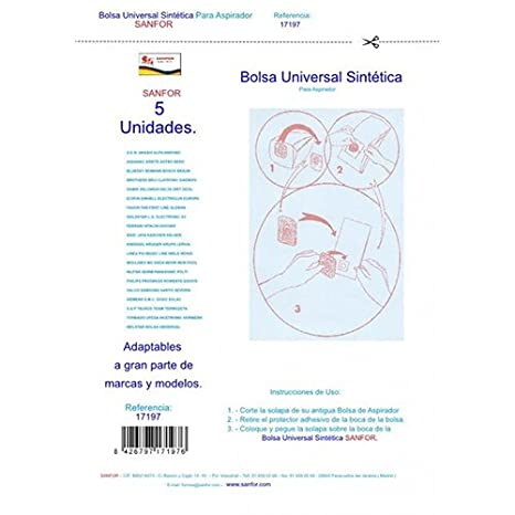 BOLSA ASPIRADORA UNIVERSAL SINTETICA (5 UND): Amazon.es: Hogar