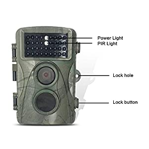 Homestec Hunting Trail Game Camera - with 16G cardInfrared Scouting Cameras 8MP 720P IP66 Waterproof hunter cam