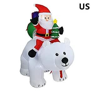 Muñeco de Papá Noel hinchable de N.º kin con oso polar y Papá Noel ...