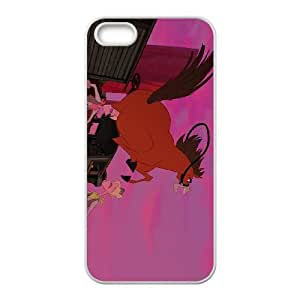 iPhone 5 5s Cell Phone Case White Disney Home on the Range Character Buck Y5M2H