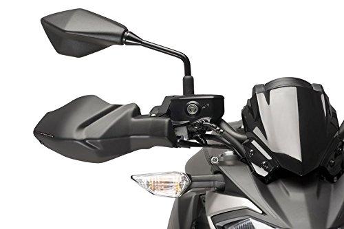 Puig Protège Mains Moto pour Kawasaki Z650 17'-18', Kawasaki Z900 17'-18', Noir Mat Kawasaki Z900 17'-18' Motoplastic S.A. 9398J