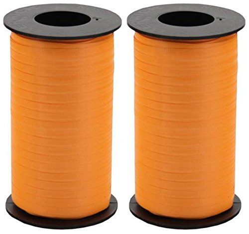 - 2-Pack Bundle - Berwick Splendorette Crimped Curling Ribbon, 3/16-Inch Wide by 500-Yard Spools, Tropical Orange