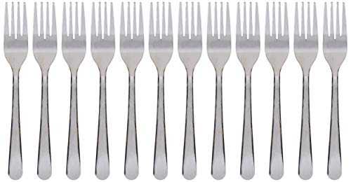 - Winco 0012-06 12-Piece Windsor Heavy Weight Salad Fork Set, 18-0 Stainless Steel