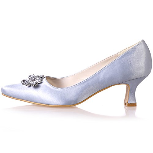 Uk Prom Shoe Low Evening Pointed Ivory Sarahbridal 4 Heels Party Toe Szxf0723 02 Girls 5 Shoes Bridal 7 Women's Size Satin For Wedding Rhinestone Uk RPPn8qAw