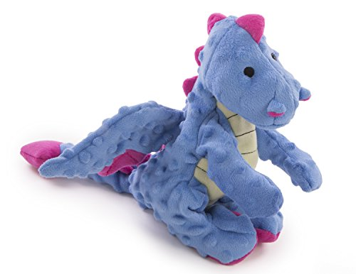 (goDog Dragons Periwinkle Dog Toy with Chew Guard Technology,)